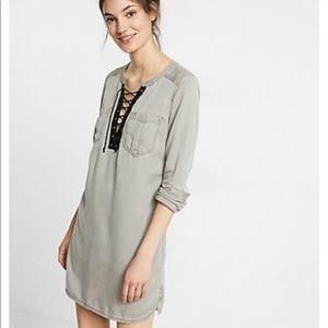 NWT XS Express Lace Up dress Tunic pockets